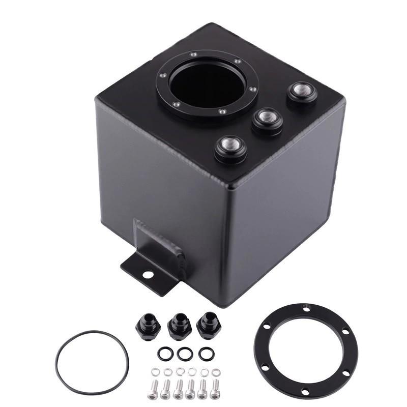 Schwarz 3 Liter Aluminium Catchtank f/ür 044 Kraftstoffpumpe